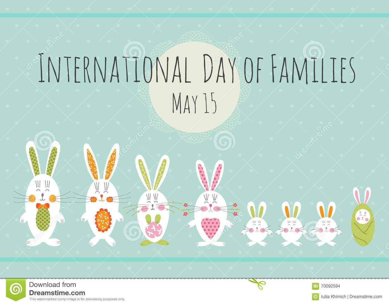 Day Of Families Card Template Stock Vector Illustration Of Family