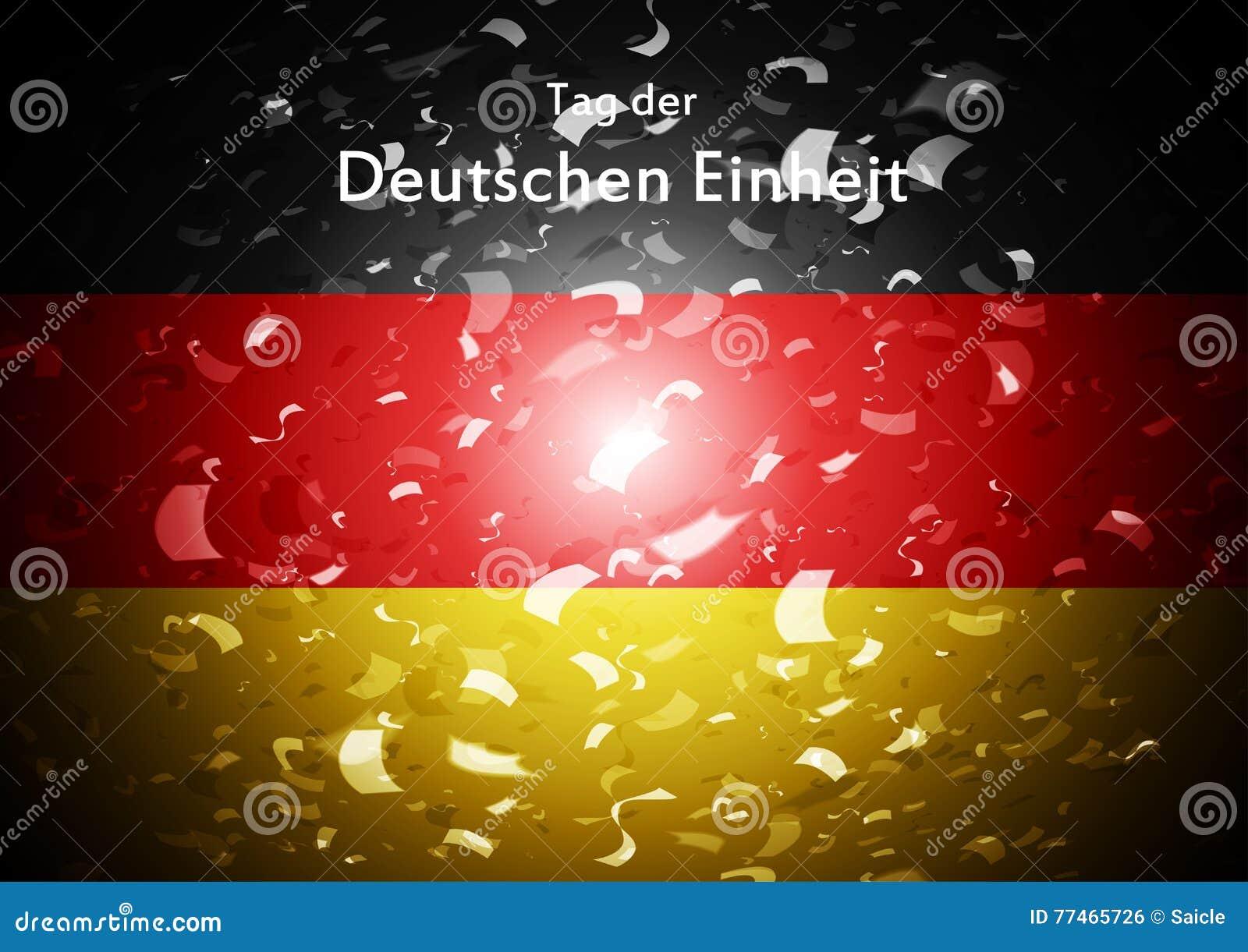 Day Of German Unity Abstract Design. Tag Der Deutschen ...  Day Of German U...