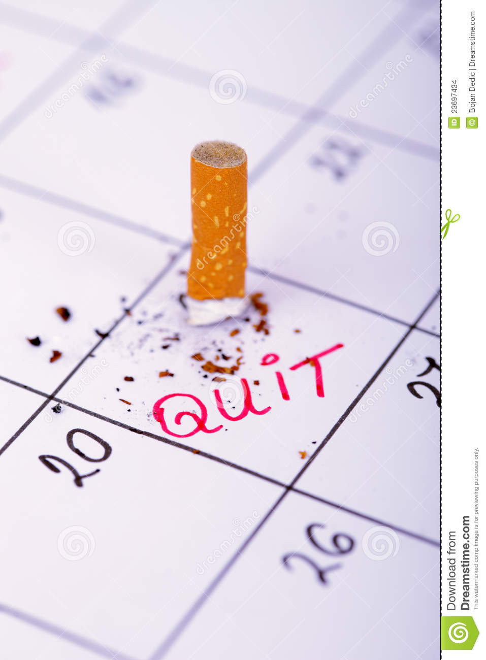 Editorial Calendar Design : Day when i will quit smoking stock images image