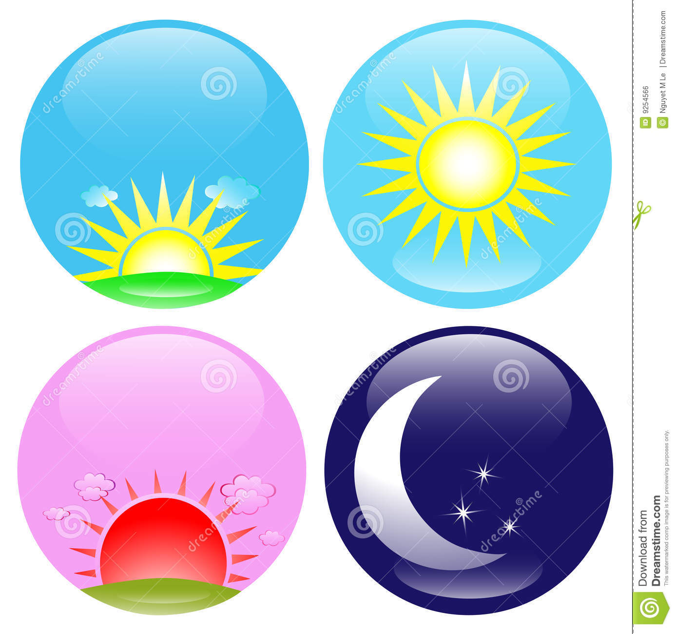 day and night icons set royalty free stock image image Morning Sunrise Clip Art sunrise clipart free