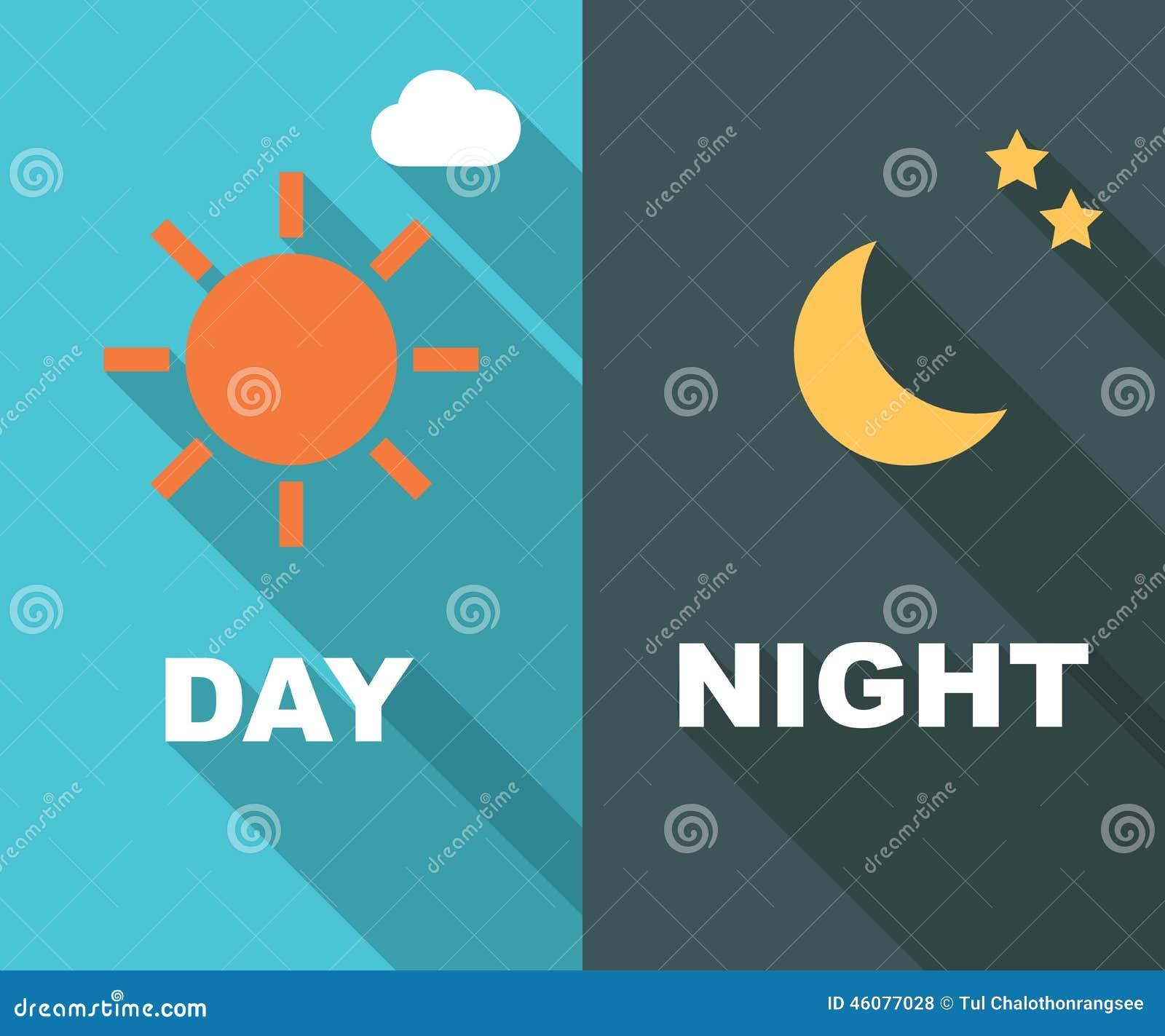 Morning Day Evening Night Icon Set Vector Illustration ...