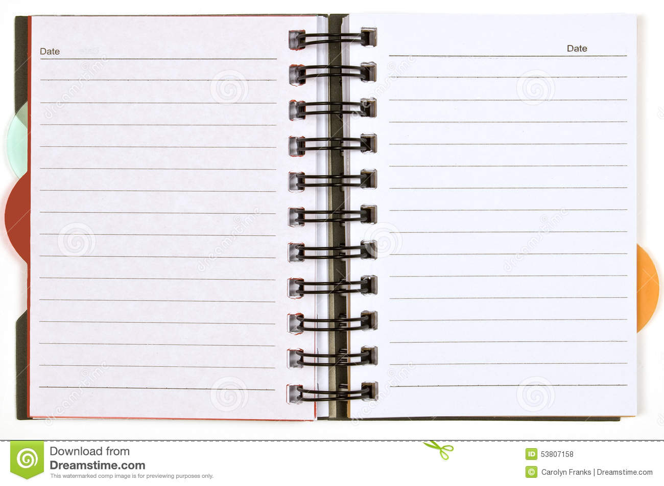 blank day planner