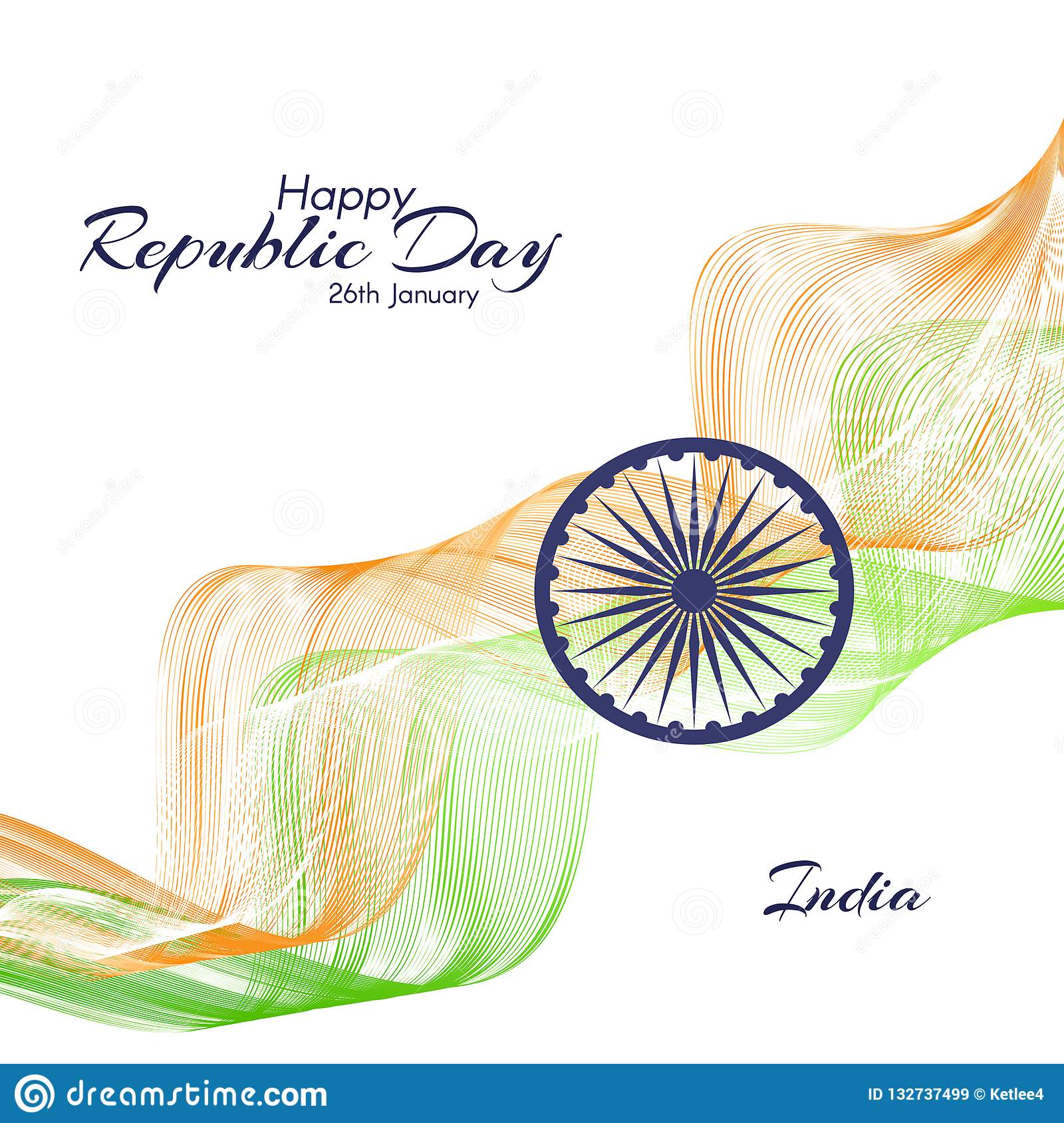 Template The Day Of The Republic In India Abstract