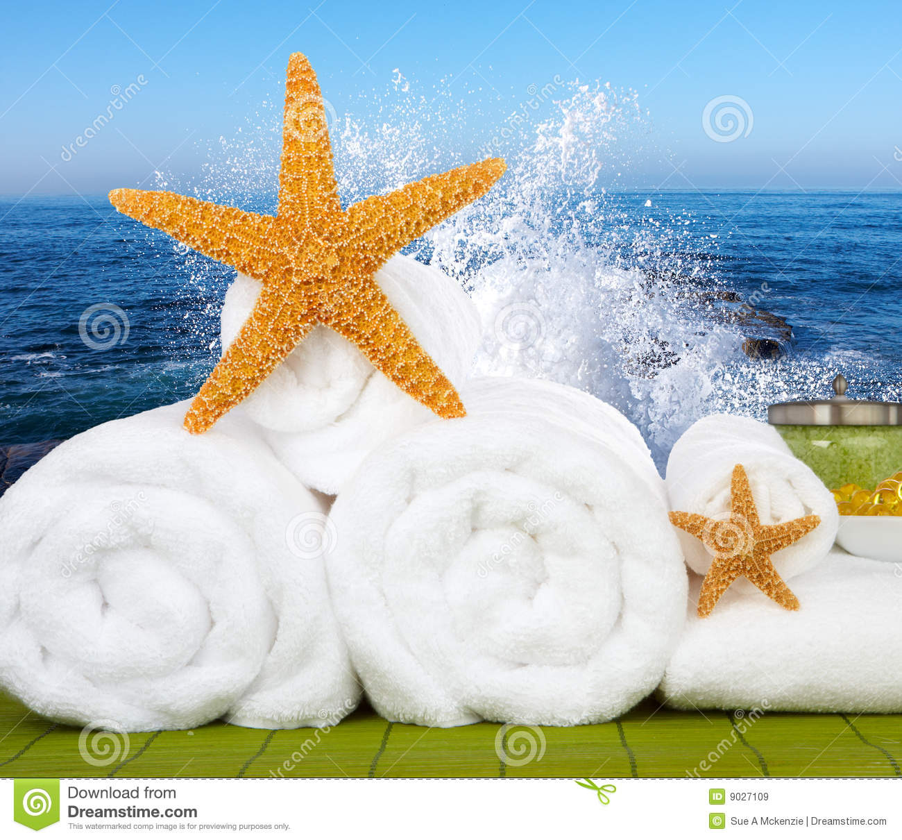 Day Spa Still Life With Starfish Stock Photography