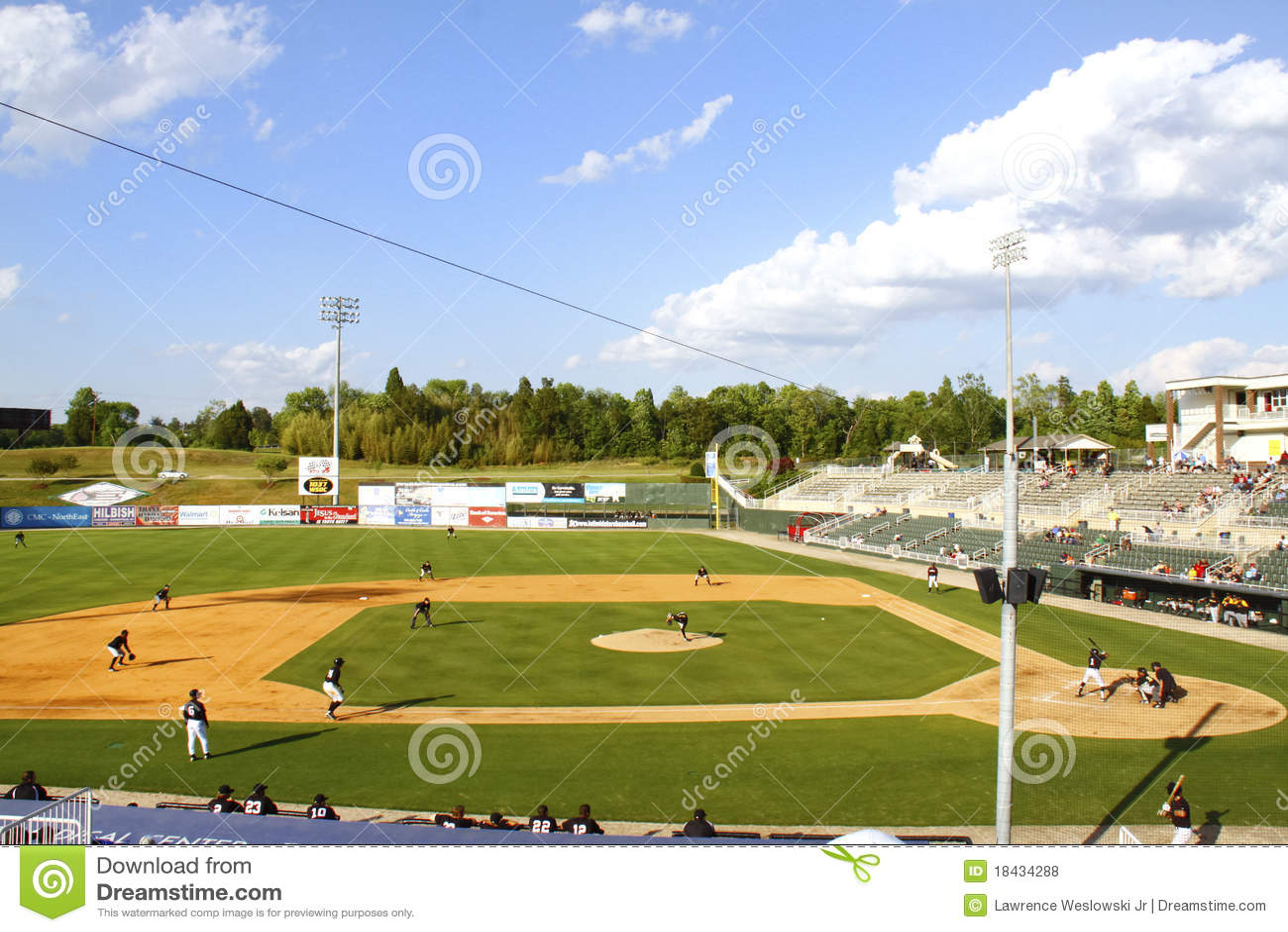 Baseball Stadium Crowd Clipart Day-time-minor-league-baseball ...