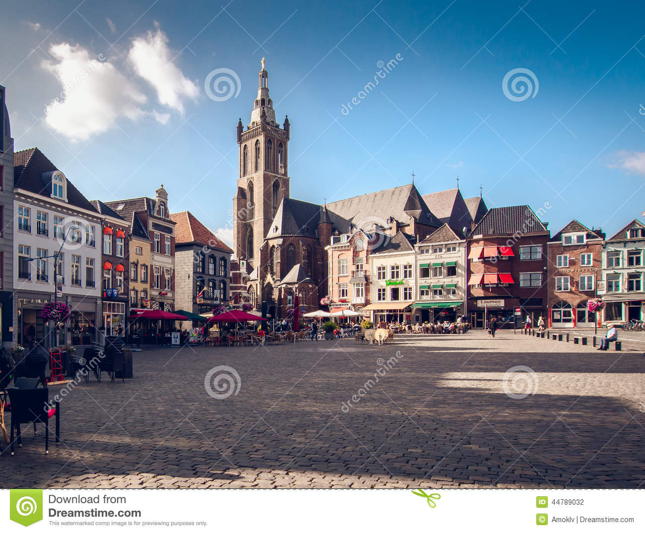 day view of market square roermond netherlands editorial photography image 44789032. Black Bedroom Furniture Sets. Home Design Ideas