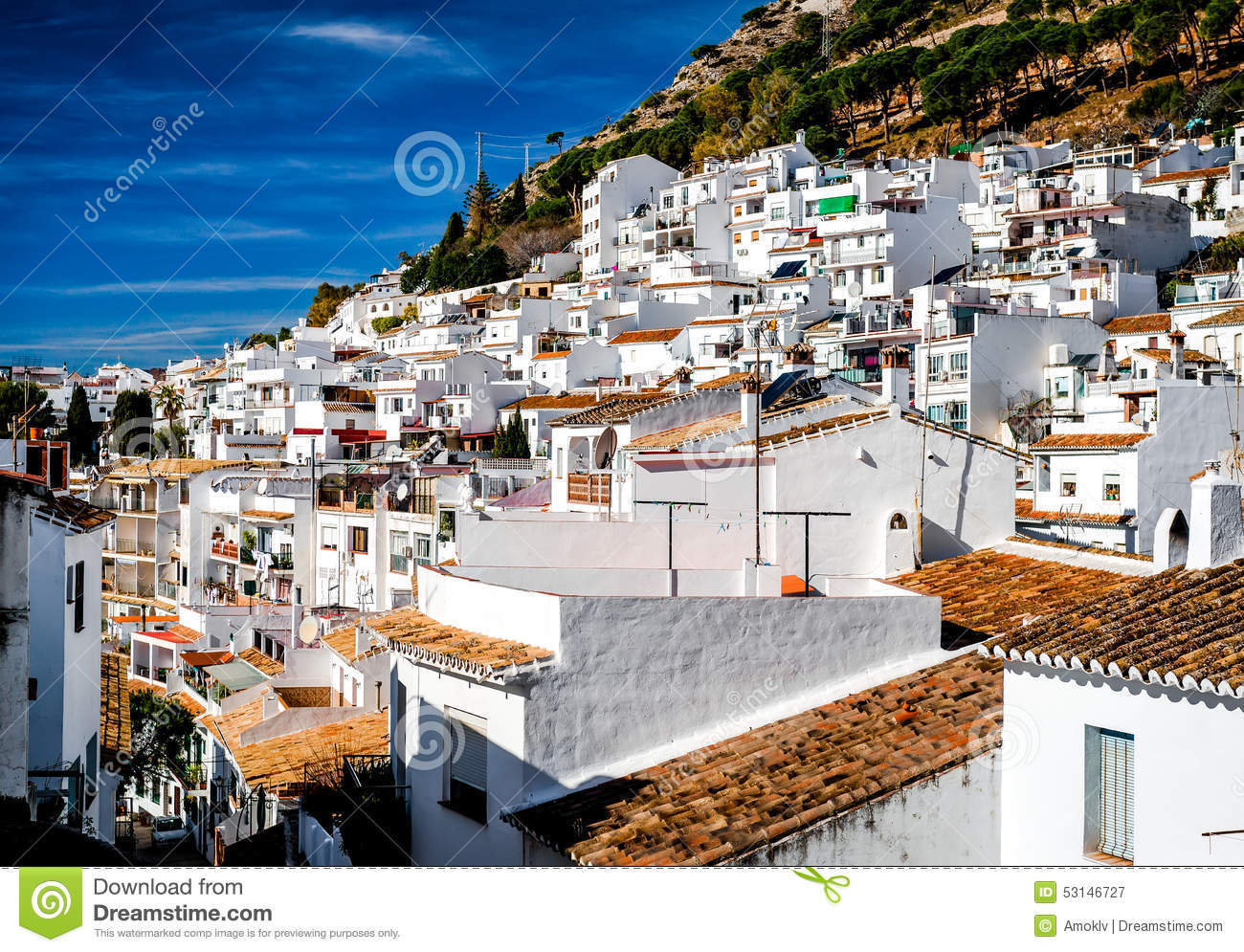 Day view of Mijas