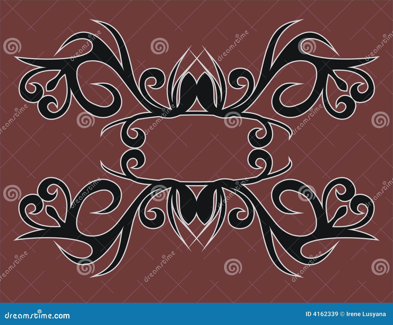 Dayak Tribe Motif Royalty Free Stock Images Image 4162339
