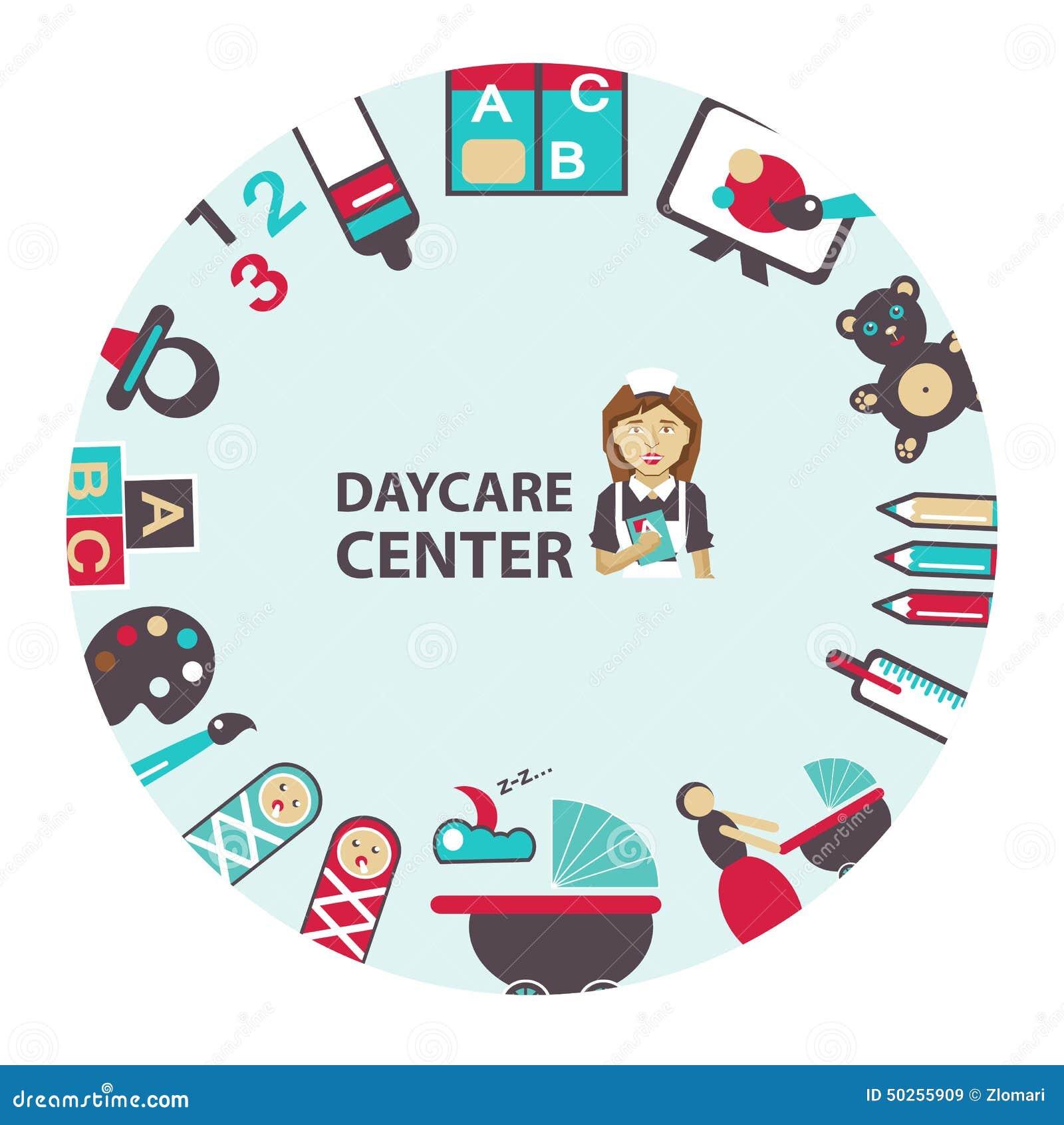 Daycare Center Emblem Stock Vector - Image: 50255909