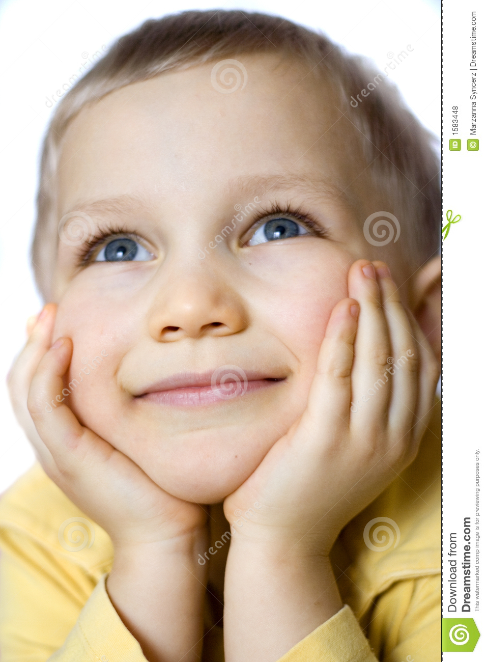 Daydreaming Boy Stock Photo Image Of Contemplate Blond