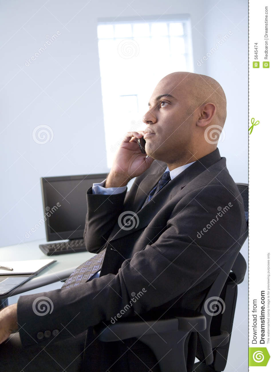 Daydreaming businessman