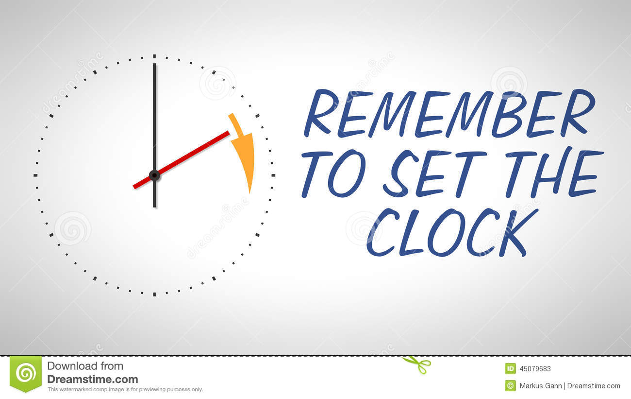Daylight Saving Time Stock Illustration Image 45079683
