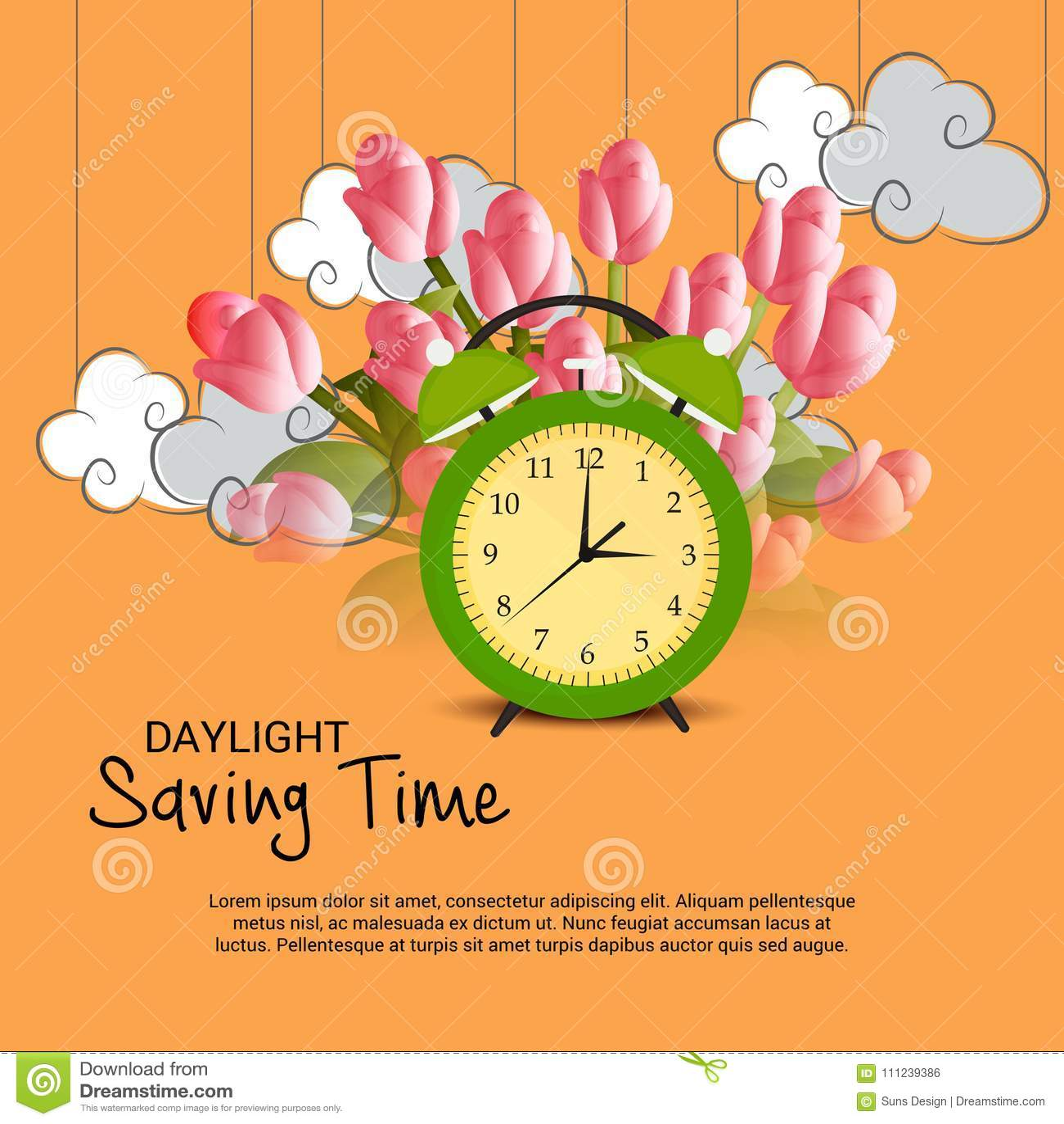 daylight saving time stock illustration illustration of flyer