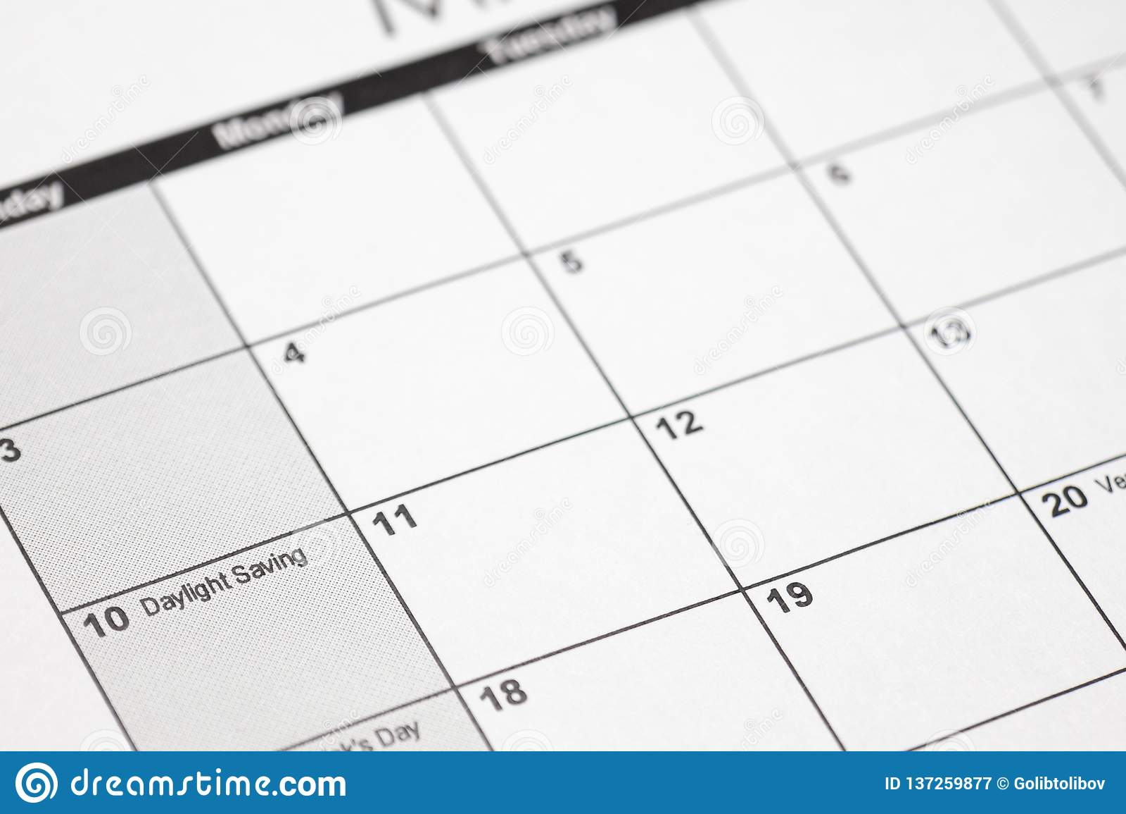 Daylight Calendar 2019 Daylight Savings 2019 On Calendar. Spring Forward Time   Savings