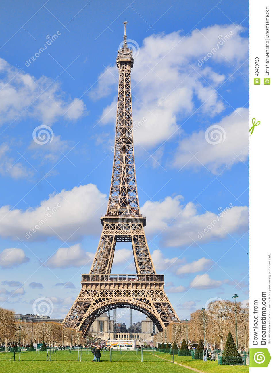 Daylight view of the eiffel tower la tour eiffel - Image de tour eiffel ...