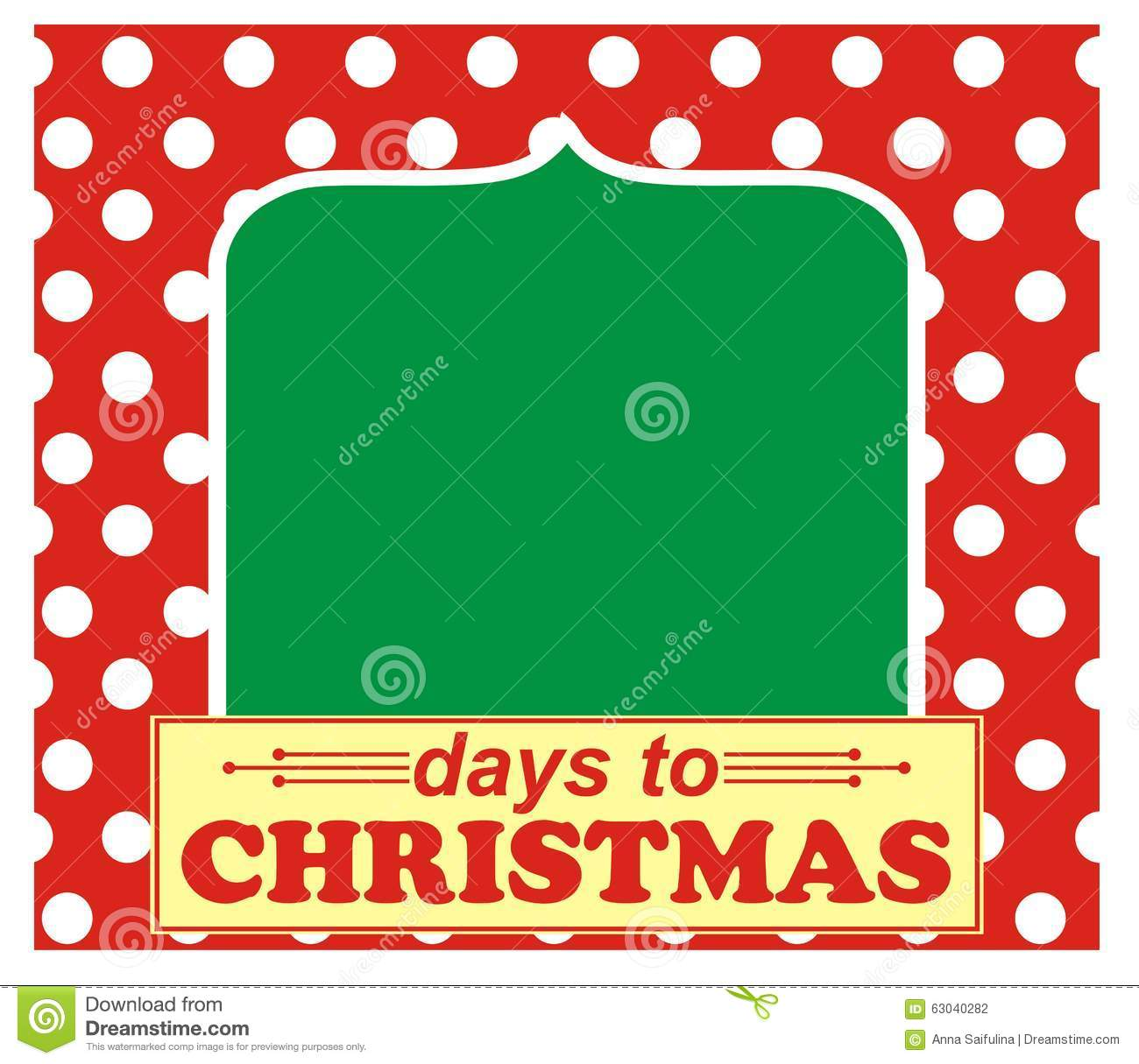 Days until Christmas stock vector. Illustration of expectation ...