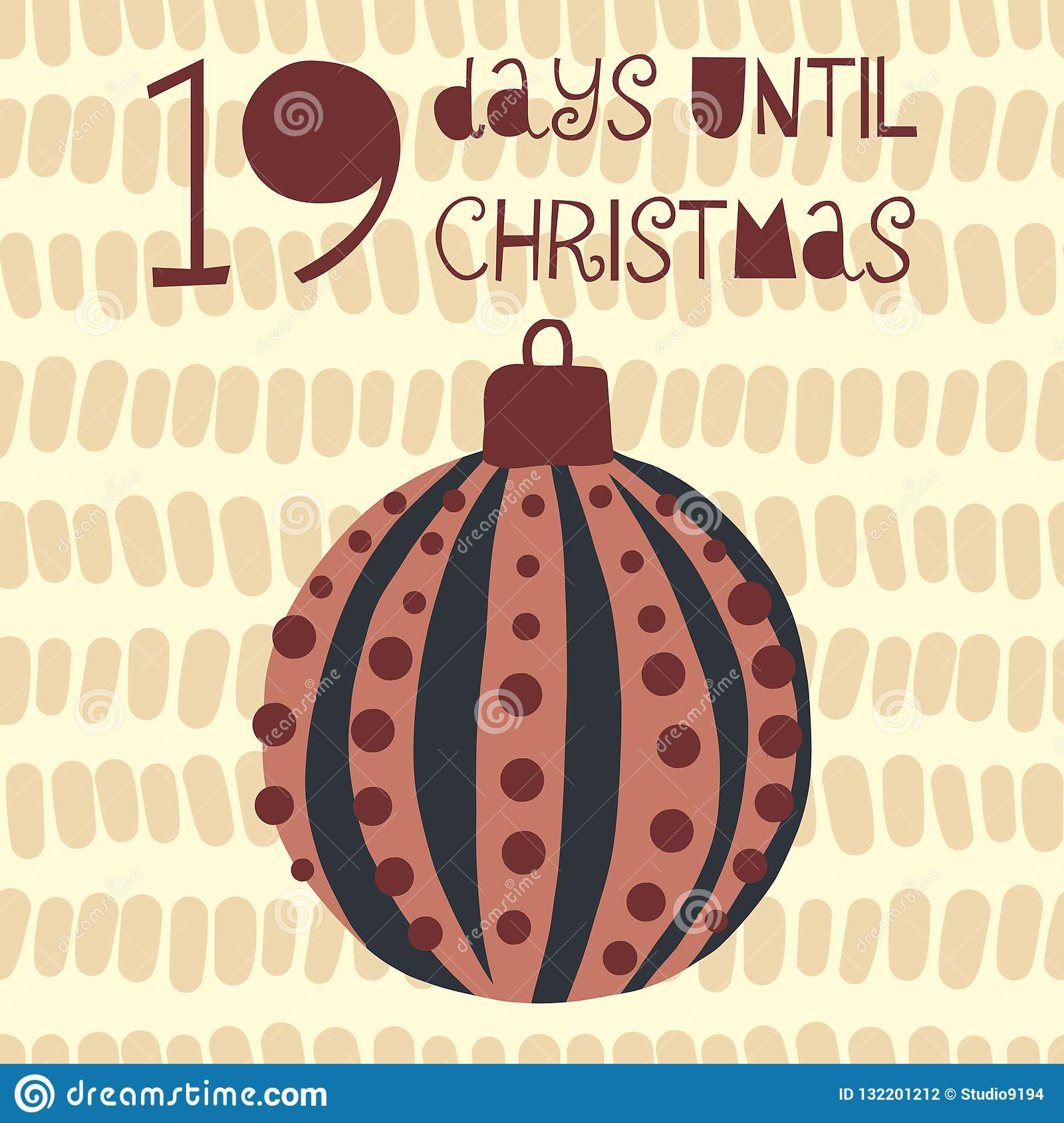 How Many Days Until Christmas Countdown.19 Days Until Christmas Vector Illustration Christmas