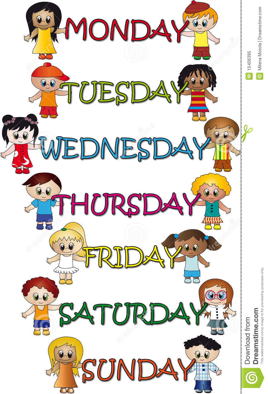days of the week stock illustration illustration of days 15406395 rh dreamstime com free clipart days of the week days of the week clipart free