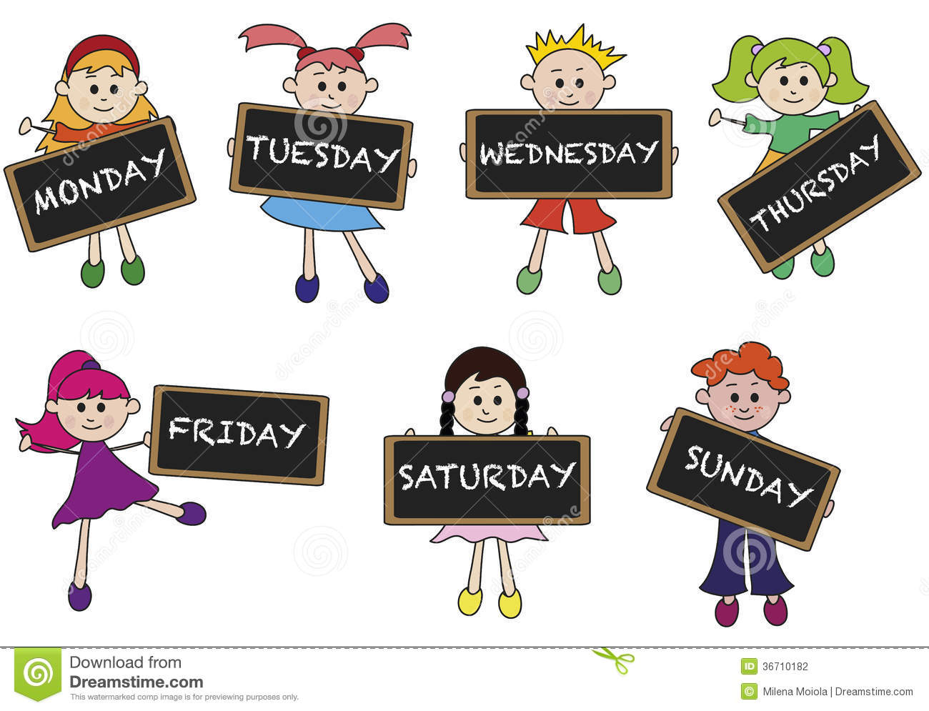 Days Of Week Stock Photography - Image: 36710182