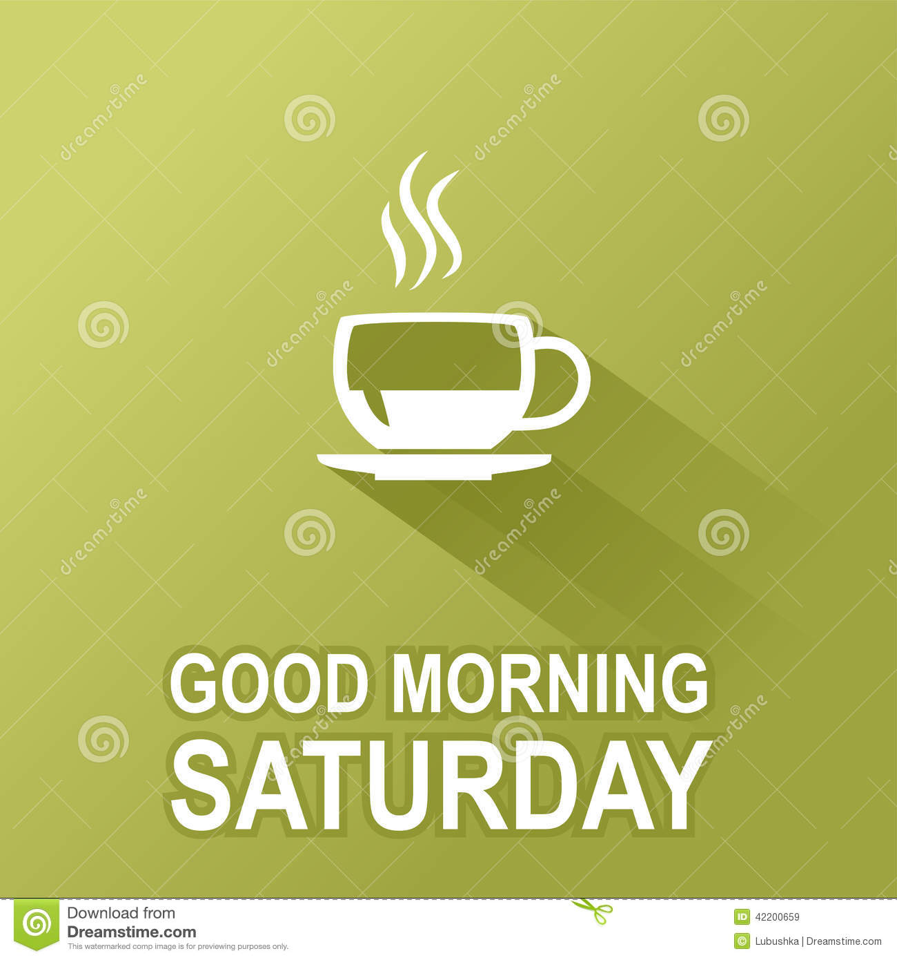Good Morning Saturday Text : Days of the week saturday stock vector image
