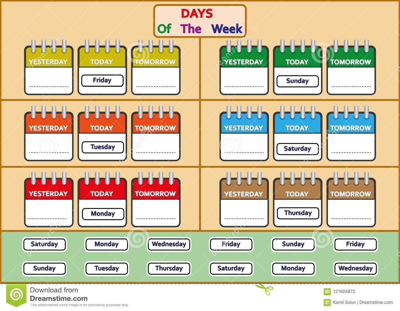 Days Of The Week Worksheets, Trace And Write The Days Of The Week ...