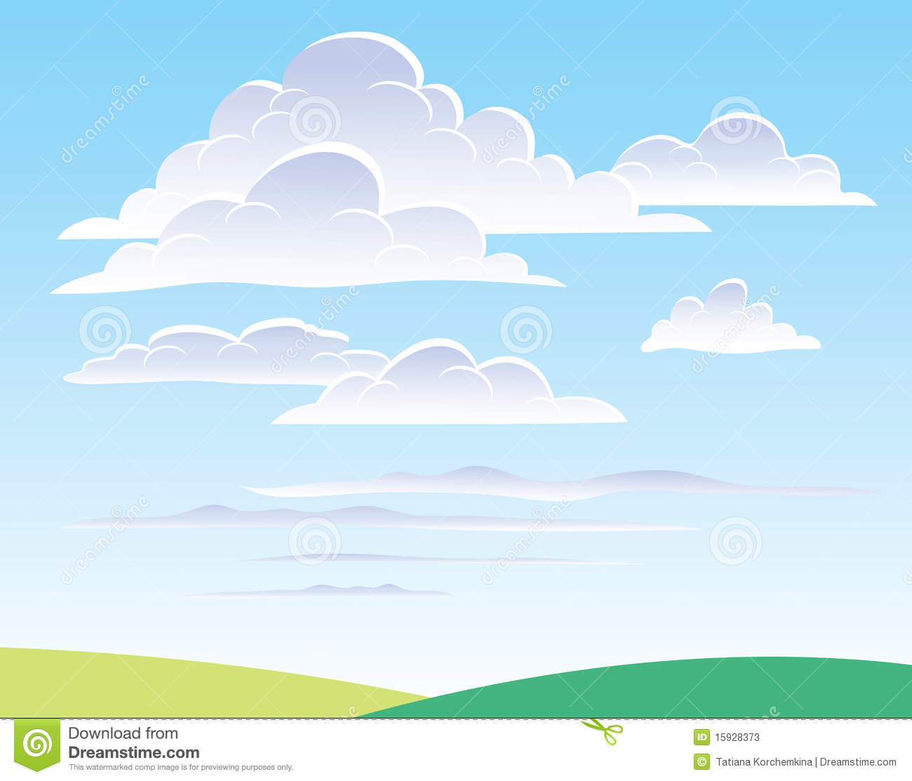 Daytime sky with cloud...
