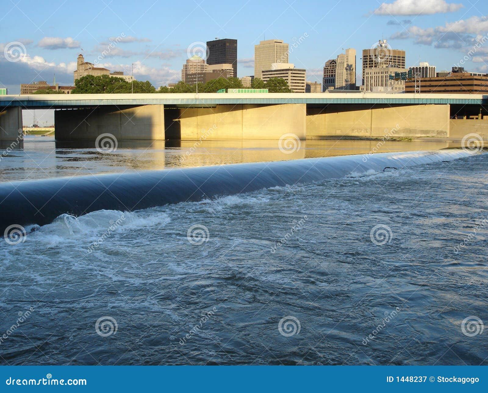 Dayton grobelna rzeki ohio linia horyzontu
