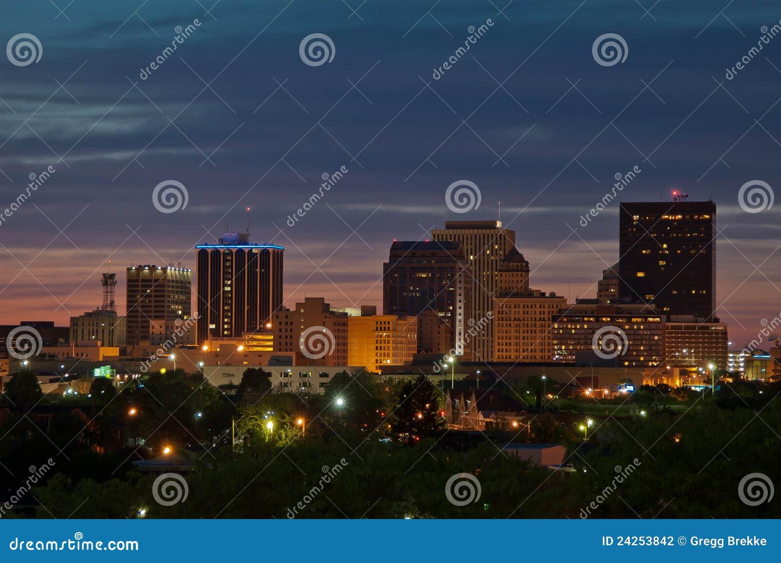 Dayton półmroku Ohio linia horyzontu