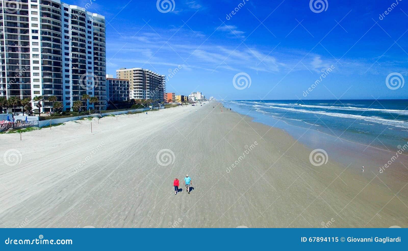 Daytona海滩鸟瞰图