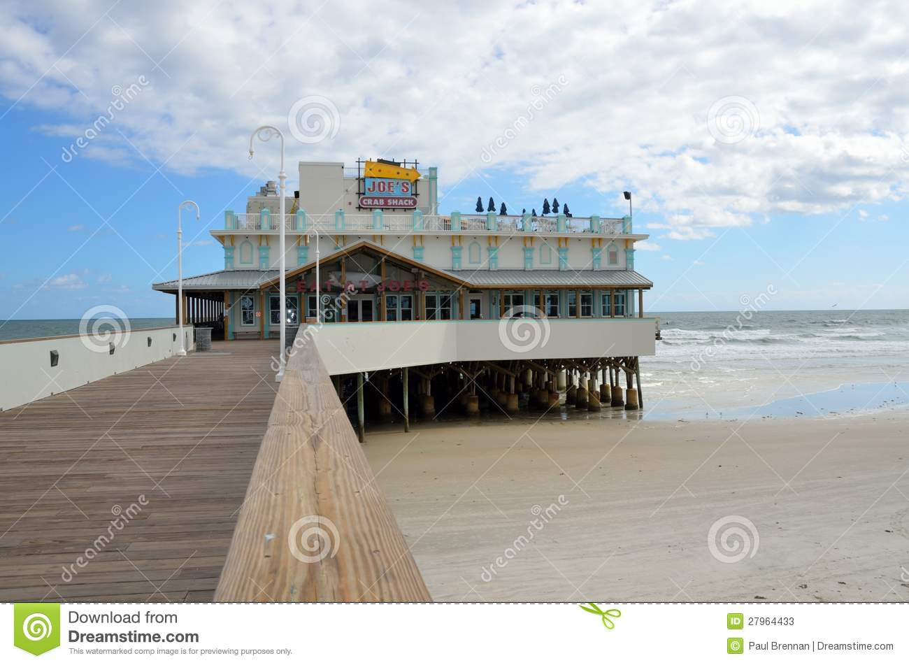 daytona beach fishing pier editorial stock photo image of