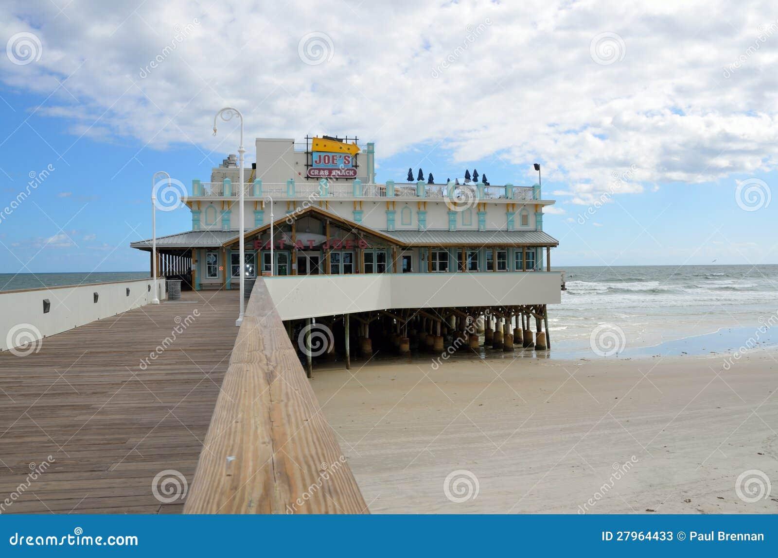 Daytona beach fishing pier editorial stock photo image of for Daytona beach fishing