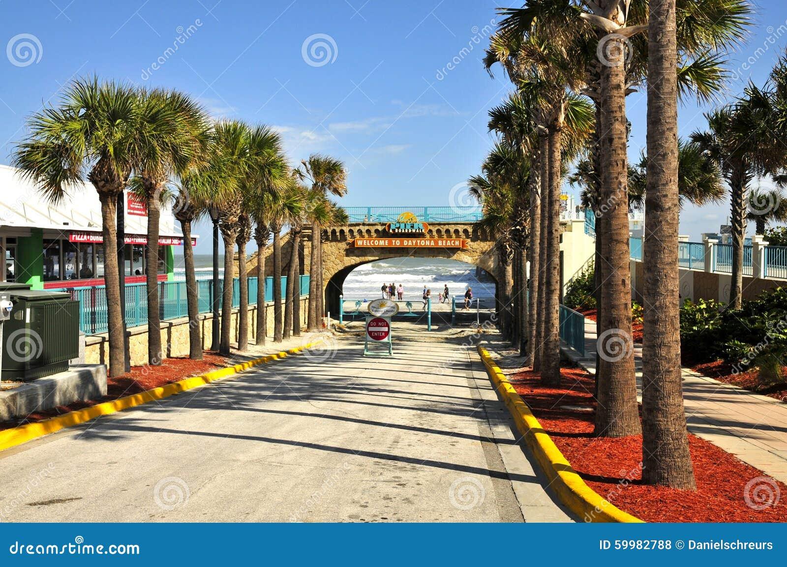 Daytona beach from the pier fishing pole royalty free for Florida free fishing days