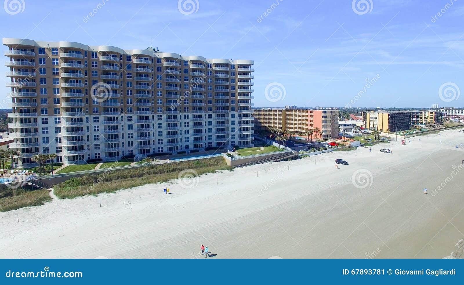 Daytona Beach, Florida Schöne Vogelperspektive