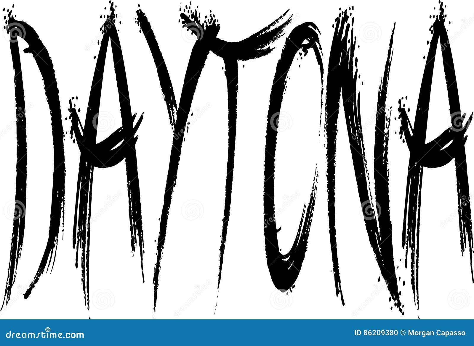Daytona text sign illustration
