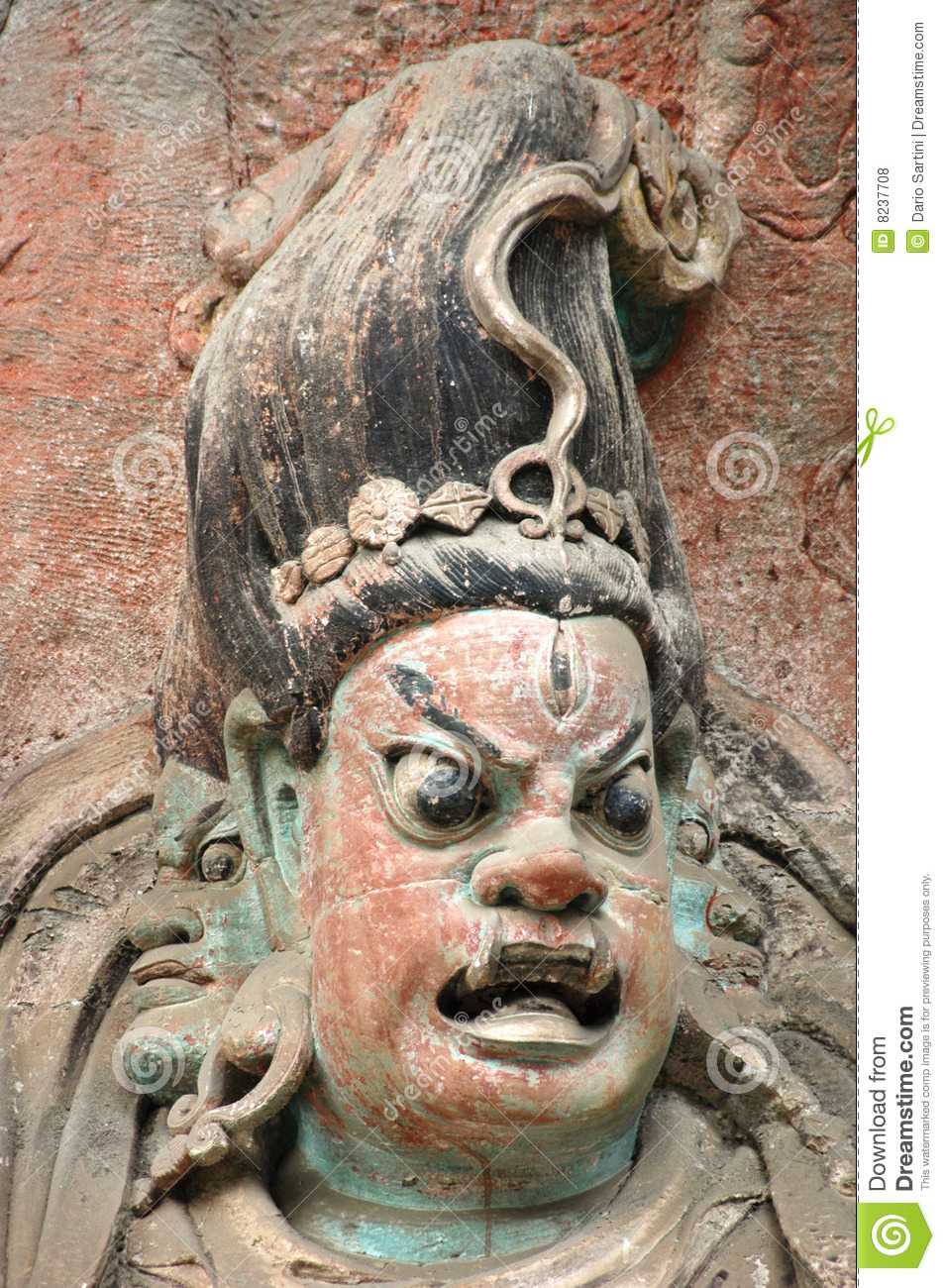 Dazu rock carvings china royalty free stock photos