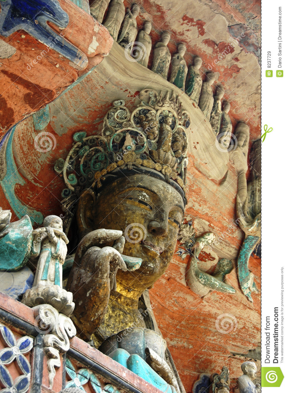 Dazu rock carvings china royalty free stock images image