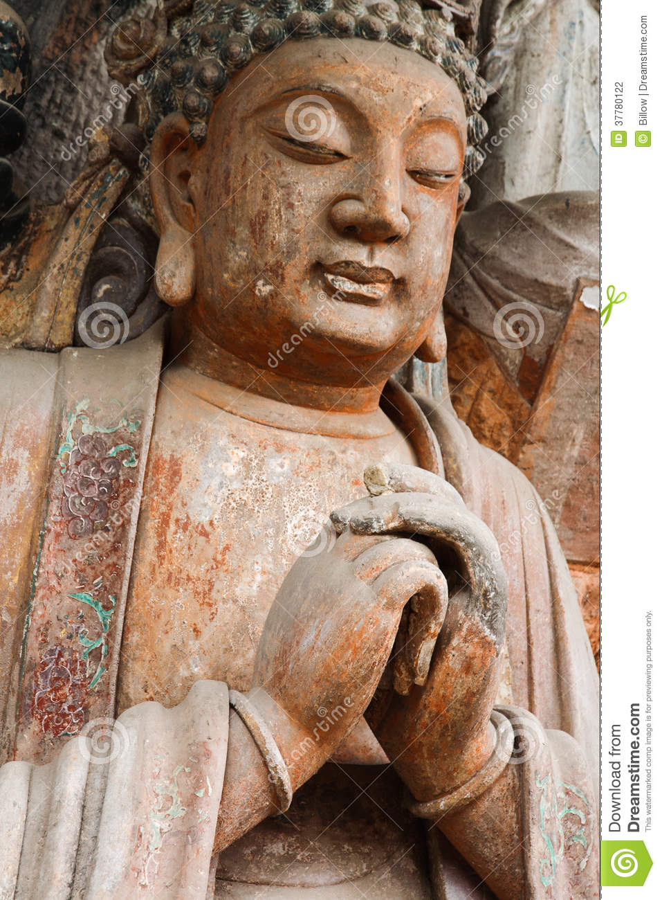 Dazu rock carvings stock photography image