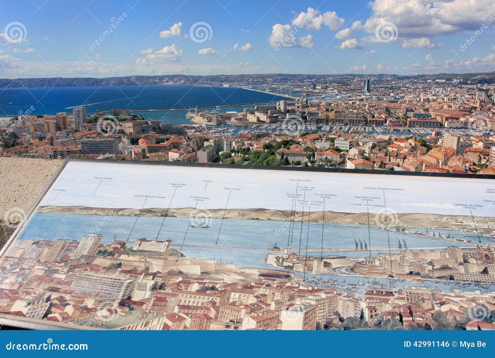 DAzur della Provenza CÃ te, Francia - vista su Marsiglia