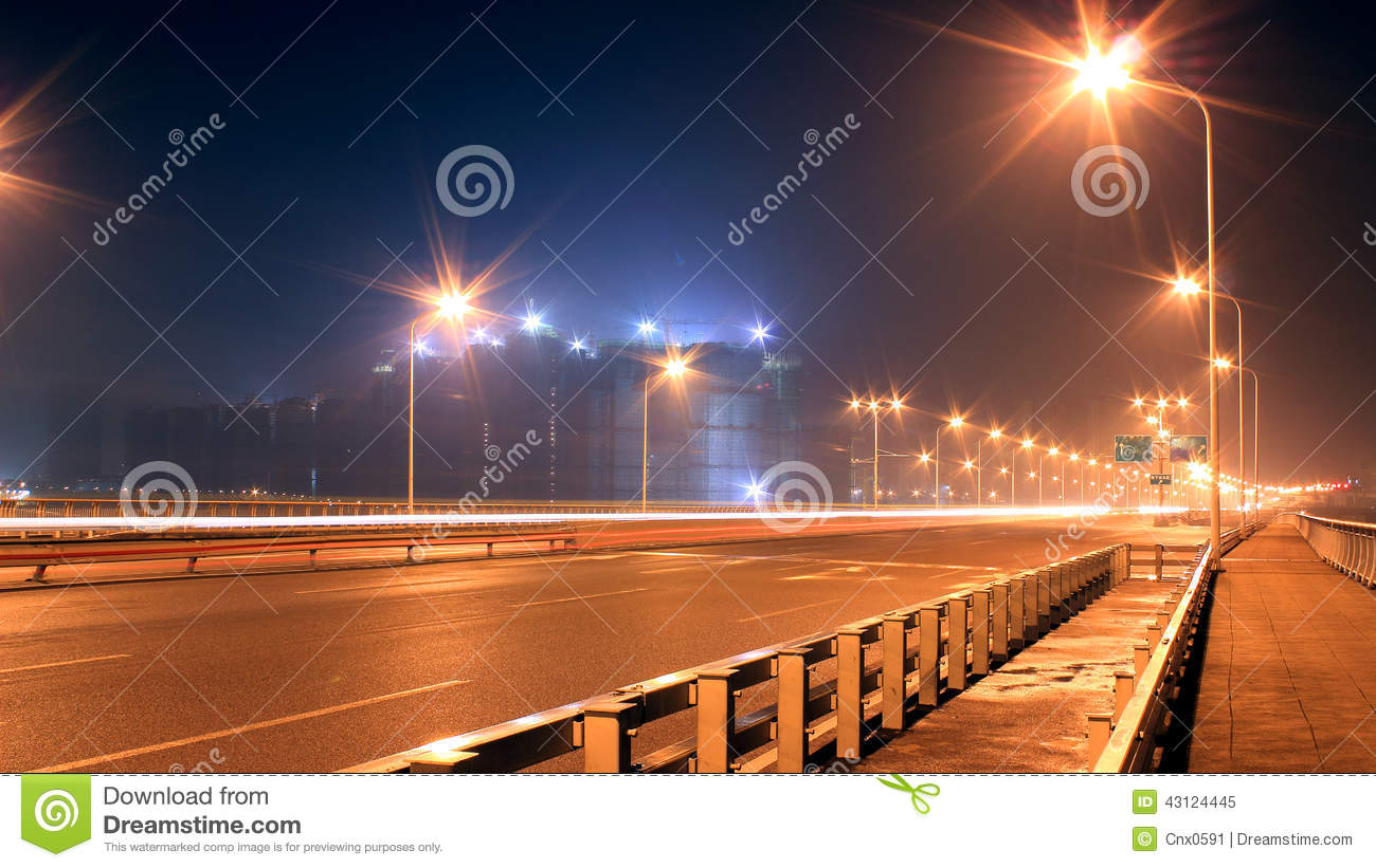 The Dazzling Light Of A Street Lamp Stock Image - Image of ... for Road Lamp At Night  49jwn
