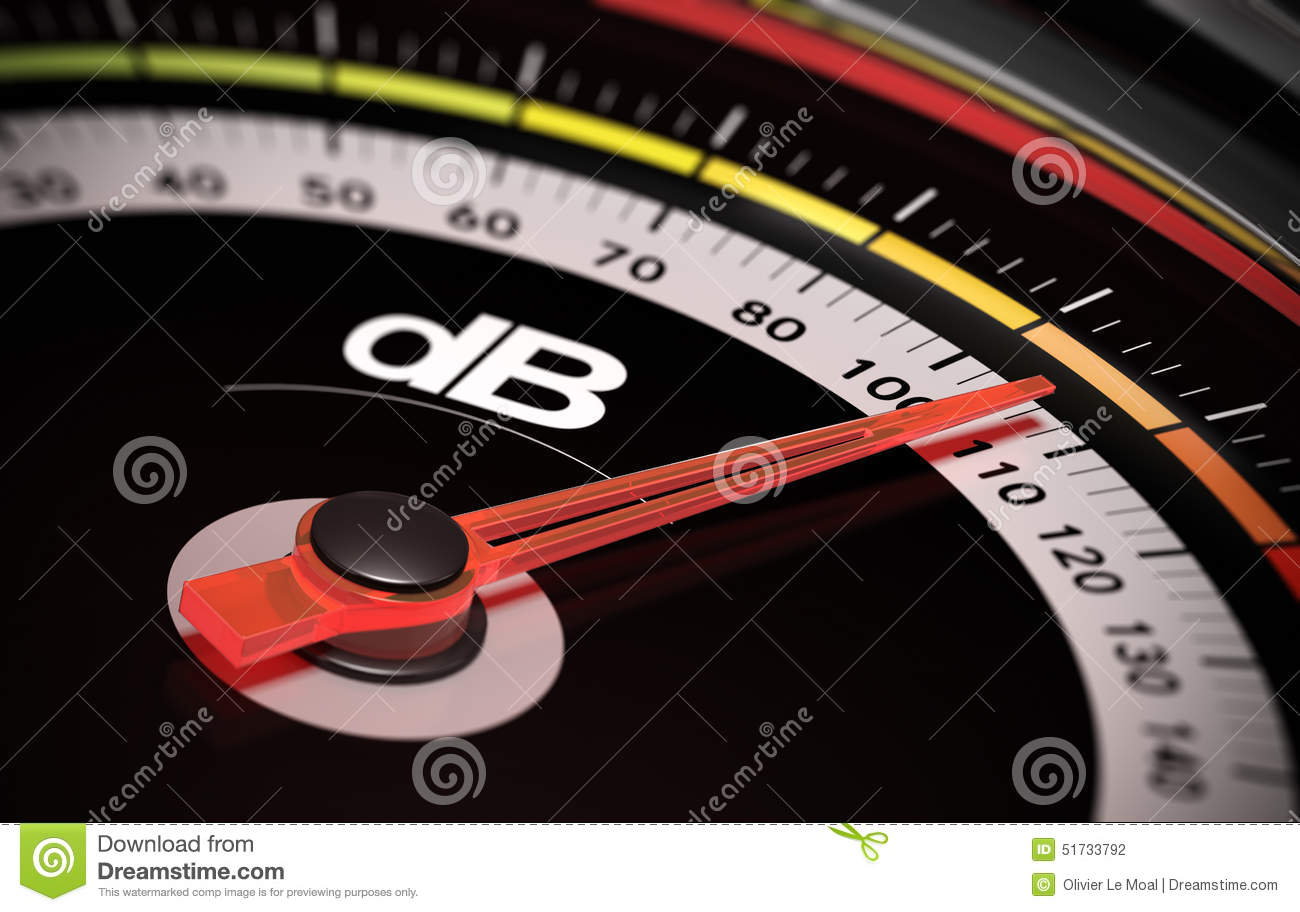 DB Decibel Level Stock Illustration Of Meter
