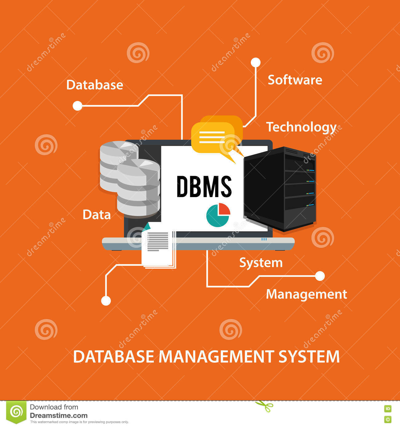 Dbms Database Management System Computer Data Symbol Stock