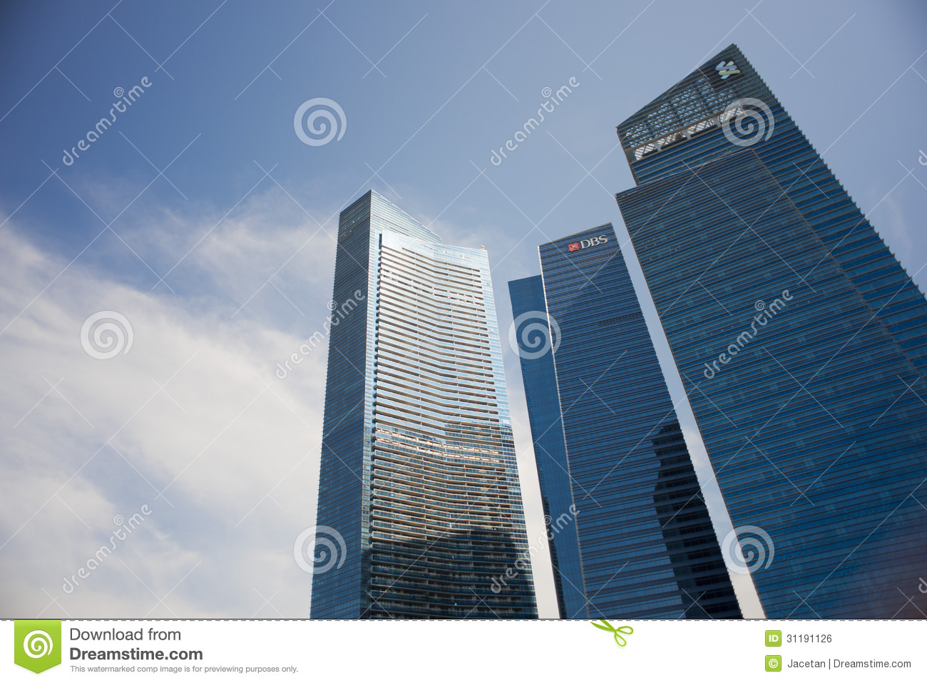 Dbs And Standard Chartered Building At Marina Bay Financial Center Editorial Photo Image 31191126
