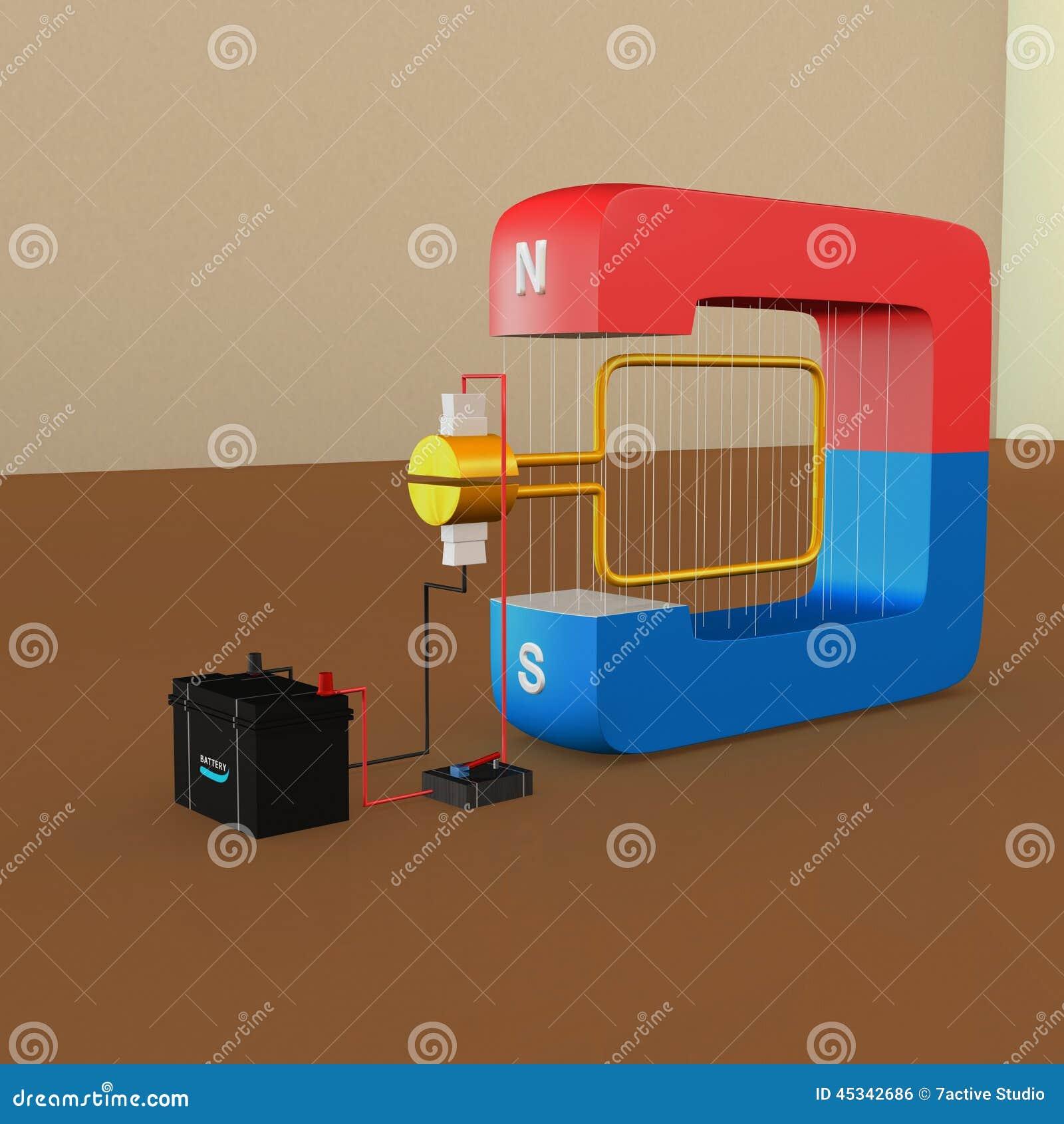DC Generator stock illustration  Illustration of copper