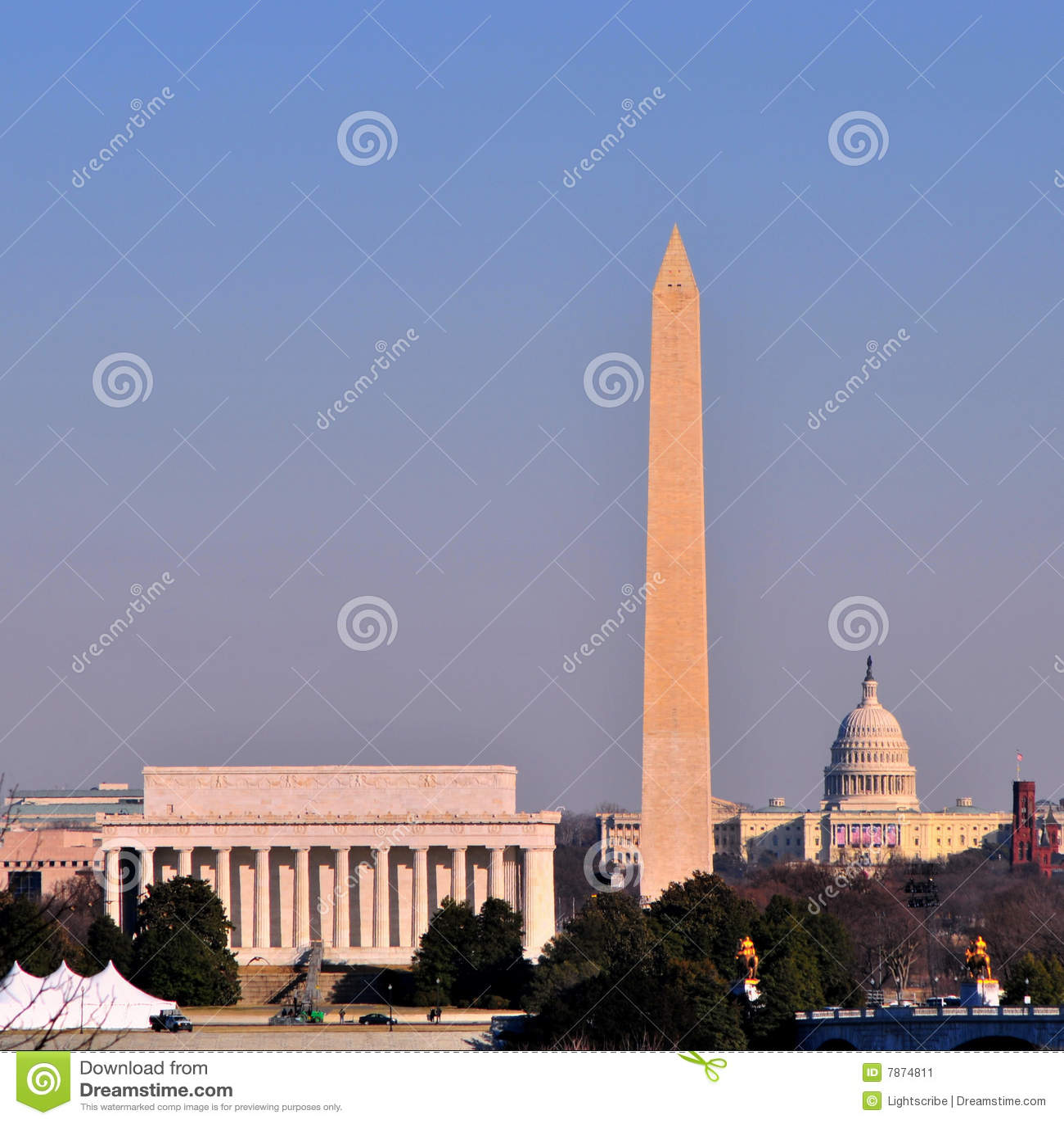 Dc linia horyzontu Washington
