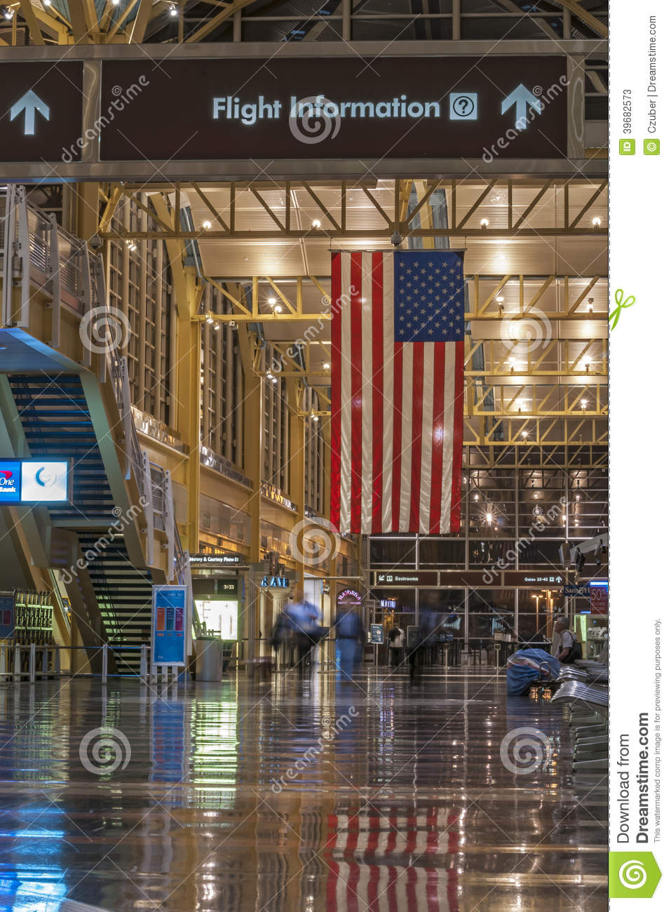 DCA Airport Editorial Stock Photo