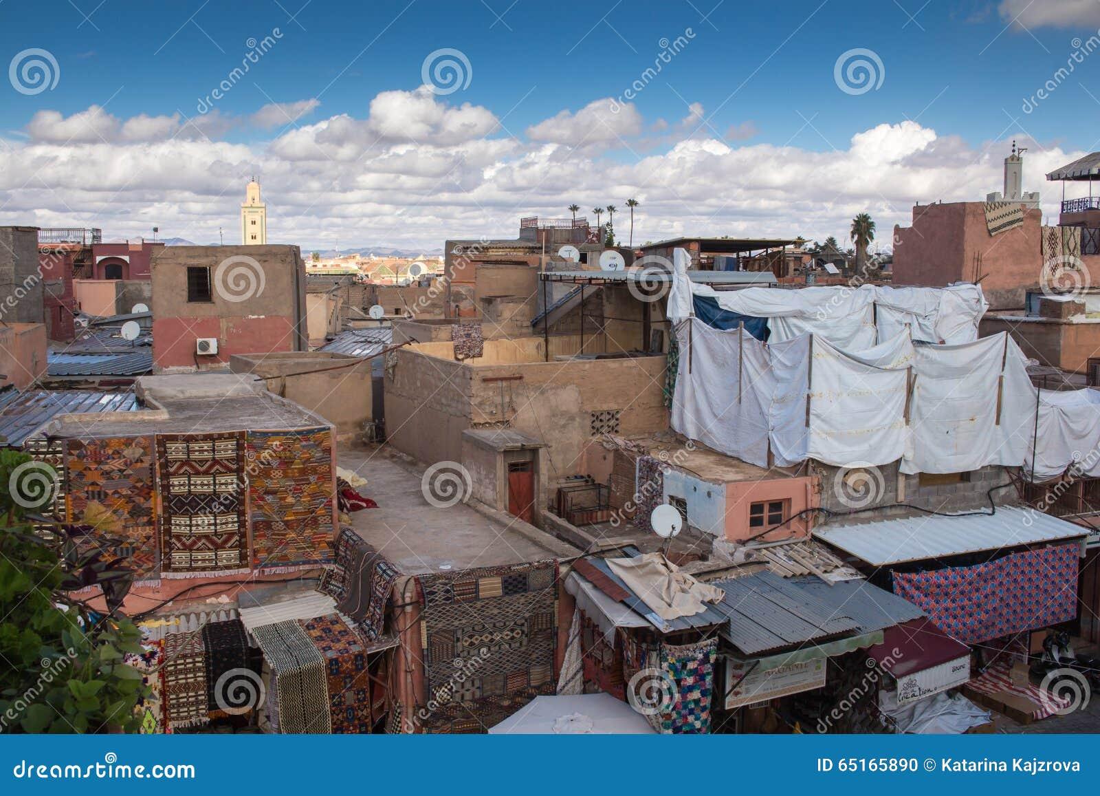 d cher und h user von marrakesch marokko stockfoto bild 65165890. Black Bedroom Furniture Sets. Home Design Ideas