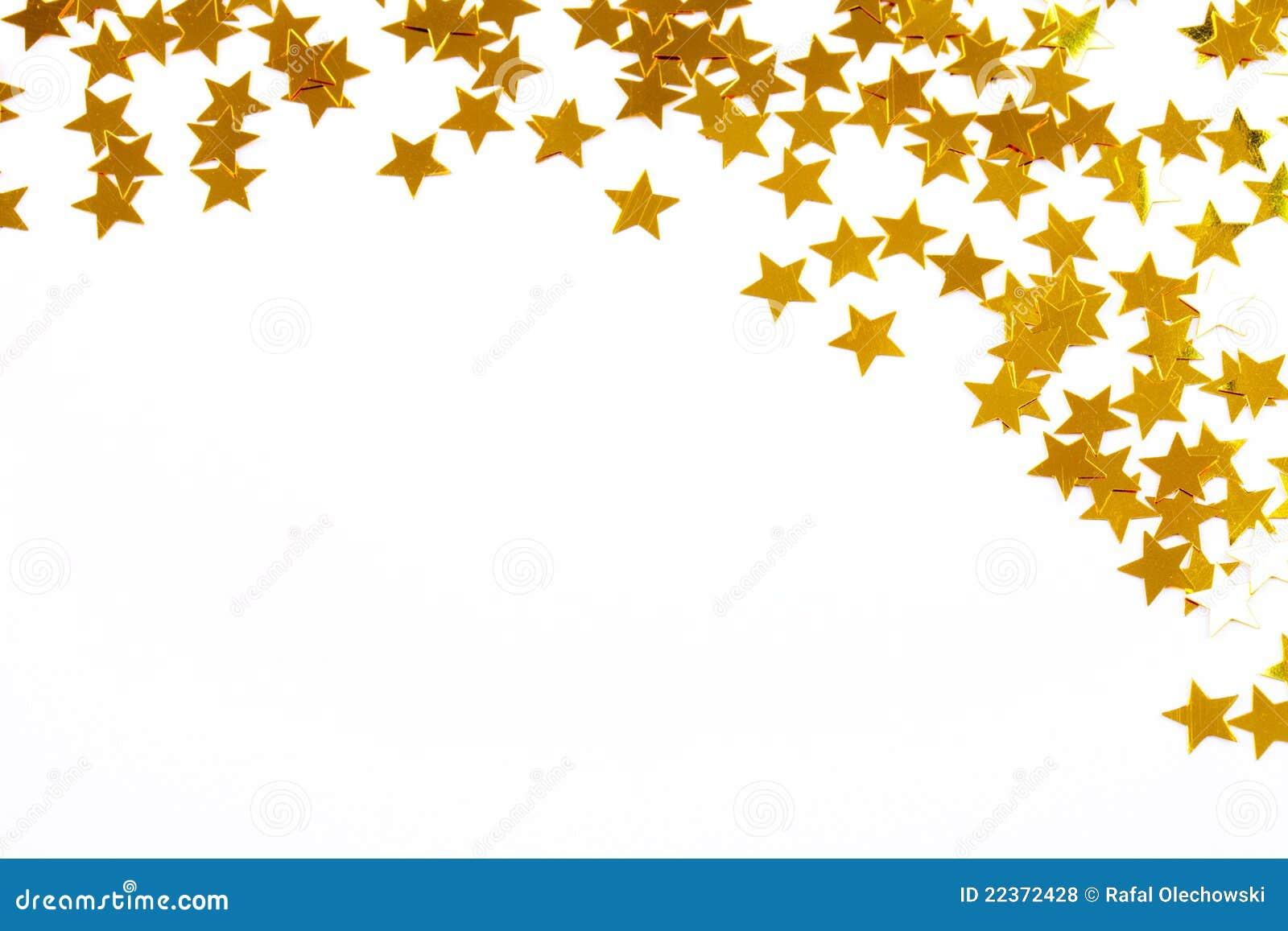 D coration de no l des toiles d 39 or de confettis photos libres de droits - Decoration etoile de noel ...