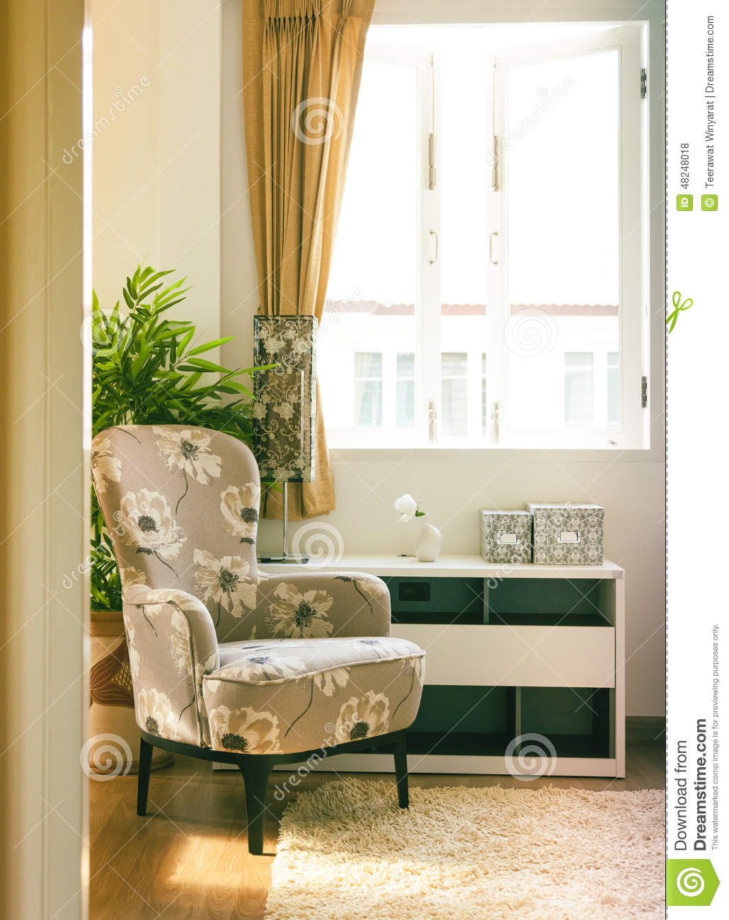 D coration int rieure de maison de fauteuil de salon photo stock image 48248018 for Interieure maison