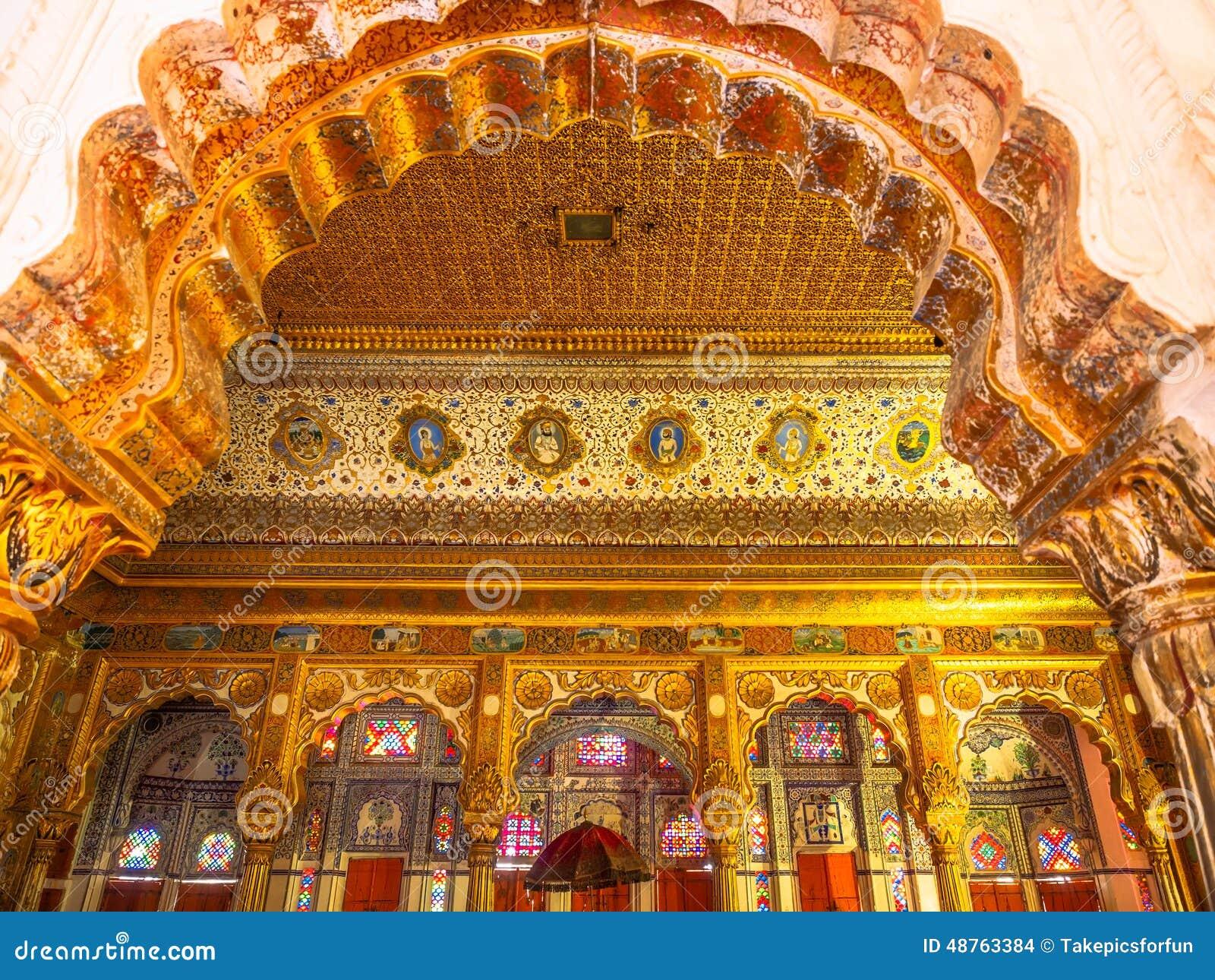 D coration l 39 int rieur de fort de mehrangarh photo stock - Decoration de l interieur ...