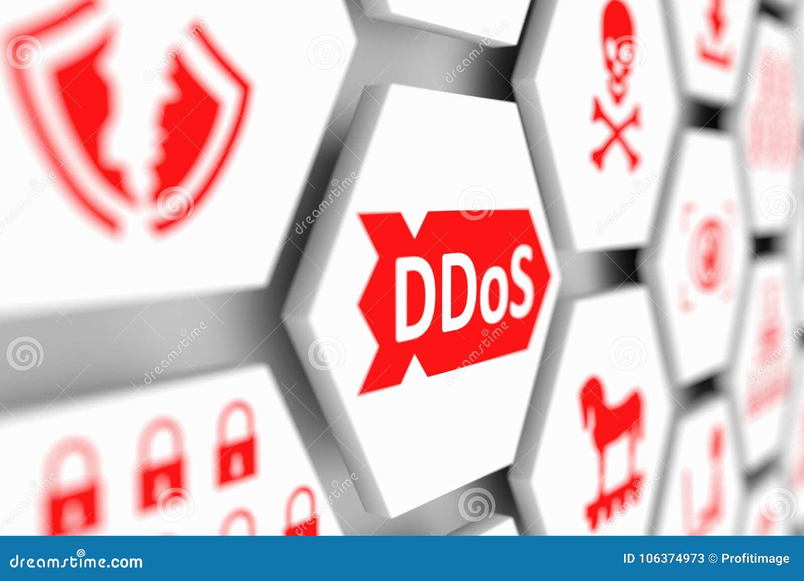 DDoS concept stock illustration  Illustration of hacker